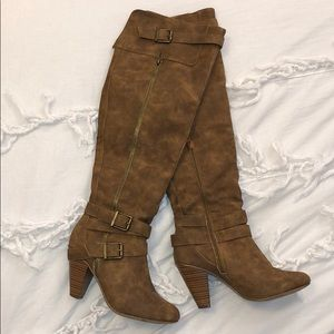 JustFab over-the-knee heeled boots